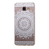 billige Mobilcovers-For Samsung Galaxy etui Transparent Mønster Etui Bagcover Etui Mandala-mønster TPU for Samsung A5(2016) A3(2016)
