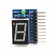 """お買い得  Arduino 用アクセサリー-アルドゥイーノ+ラズベリーパイのための1桁のアノードコモン0.56 """"デジタルディスプレイモジュール - ブルー"""