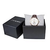 Недорогие Фирменные часы-SINOBI Муж. Наручные часы Кварцевый 30 m Защита от влаги Календарь Спортивные часы Кожа Группа Аналоговый Роскошь Коричневый - Коричневый