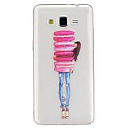Назначение Кейс для  Samsung Galaxy Чехлы панели Прозрачный С узором Задняя крышка Кейс для Мультипликация Термопластик для SSamsung