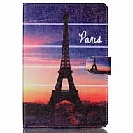 Eiffel-torni folio nahka seistä kansi kotelo jalustalla ipad mini 4