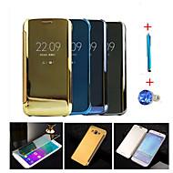 お買い得  携帯電話ケース-ケース 用途 Samsung Galaxy オートオン/オフ / メッキ仕上げ / ミラー フルボディーケース ソリッド ハード PC のために A9 / A8 / A7