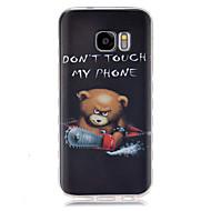 tanie Galaxy S2 Etui / Pokrowce-Kılıf Na Samsung Galaxy Samsung Galaxy Etui Wzór Czarne etui Rysunek TPU na S7 S6 edge S6 S5 Mini S5 S4 Mini S4 S3 Mini S3 S2