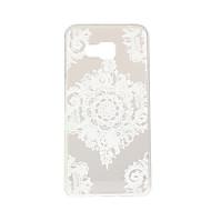 белый цветок углы картины TPU мягкий чехол телефон случае для Samsung Galaxy a3 / a5 / a7 / a3 10 / A510 / A710