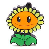 abordables Memoria USB-zpk47 flor de girasol 16gb flash USB 2.0 unidad de memoria u palillo