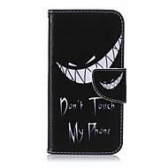 Для Кейс для  Samsung Galaxy Кошелек / Бумажник для карт / со стендом / Флип Кейс для Чехол Кейс для Слова / выражения Искусственная кожа