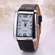 levne -Pánské Náramkové hodinky Křemenný Z umělé kůže Černá / Hnědá Analogové Bílá Černá Hnědá