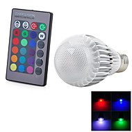 7W E26/E27 LED-älyvalot T 1 Integroitu LED 50-300 lm RGB Kauko-ohjattava / Koristeltu AC 85-265 V 1 kpl