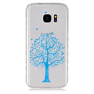 Для Кейс для  Samsung Galaxy Прозрачный Кейс для Задняя крышка Кейс для дерево TPU SamsungS7 / S6 edge / S6 / S5 Mini / S5 / S4 Mini / S4