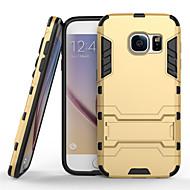 お買い得  Samsung 用 ケース/カバー-サムスンギャラクシーS7 / S7エッジ/ S6 / S6エッジのための鉄の男装甲電話ケース