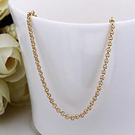 Dámské Řetízky Pozlaceno 18k dámy Dubaj Zlatá Náhrdelníky Šperky Pro