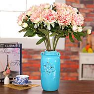 preiswerte Schreibwaren-Künstliche Blumen 1 Ast Pastoralen Stil Pfingstrosen Tisch-Blumen