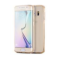 Недорогие Чехлы и кейсы для Galaxy S-Кейс для Назначение SSamsung Galaxy Samsung Galaxy S7 Edge Покрытие / Прозрачный Кейс на заднюю панель Однотонный ТПУ для S7 edge / S7 / S6 edge plus