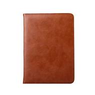 billige -Etui Til iPad 4/3/2 Kortholder med stativ Autodvale / aktivasjon Origami Heldekkende etui Helfarge ekte lær til iPad 4/3/2