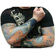 прохладный 10pcs поддельные временные втулки татуировки боди-арт рука чулки Accessorie
