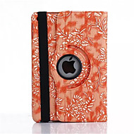 cheap Clearance-Case For Apple with Stand / Auto Sleep / Wake / 360° Rotation Full Body Cases Flower PU Leather for iPad Air