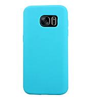 お買い得  Samsung 用 ケース/カバー-ケース 用途 Samsung Galaxy Samsung Galaxy S7 Edge 耐衝撃 バックカバー 純色 シリコーン のために S7 S6