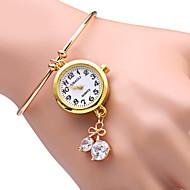 Недорогие Фирменные часы-JUBAOLI Жен. Кварцевый Часы-браслет Повседневные часы сплав Группа Блестящие Heart Shape Мода Золотистый