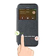 Недорогие Кейсы для iPhone 8 Plus-Кейс для Назначение Apple iPhone X iPhone 8 iPhone 6 iPhone 6 Plus со стендом с окошком Чехол Сплошной цвет Твердый Кожа PU для iPhone X