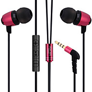 abingo S600i Metall ergonomische Ohrhörer Stil Kopfhörer mit Mikrofon& Fernbedienung für Smartphone