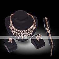 abordables Joyería y Relojes-Mujer Diamante sintético Perla Piedras preciosas sintéticas Perla Chapado en Oro Oro de 18 K Diamante Sintético Lujo Boda Fiesta 1 Collar