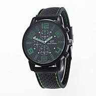 Недорогие Мужские часы-Муж. Модные часы Повседневные часы Кварцевый Повседневные часы силиконовый Группа Кулоны Черный
