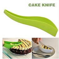 실제 케이크 커터 도구 케이크 파이 슬라이서 시트 가이드 커터 케이크 칼 한 조각 주방 가젯 임의의 색상을 잘라