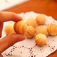 abordables Almacenamiento y Organización-Pelotillas de madera del incienso 5pcs fragante bola de polilla de madera de cedro natural perfumada fragante