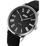 tanie Eleganckie zegarki-SKMEI Męskie Do sukni/garnituru Kwarcowy Kwarc japoński Wodoszczelny Skóra Pasmo Czarny Brązowy