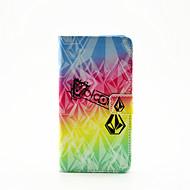 Для Кейс для  Samsung Galaxy Бумажник для карт / со стендом / Флип / С узором / Магнитный Кейс для Чехол Кейс для Градиент цвета