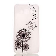 お買い得  携帯電話ケース-ケース 用途 Samsung Galaxy Samsung Galaxy ケース 蓄光 バックカバー タンポポ TPU のために J5 (2016)