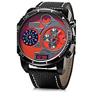 Недорогие Фирменные часы-JUBAOLI Муж. Армейские часы Наручные часы Кварцевый Повседневные часы Кожа Группа Аналоговый Кулоны Черный / Синий / Красный - Желтый Красный Синий Один год Срок службы батареи / SSUO LR626