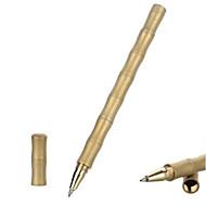 preiswerte -Fura Außen Bambus förmige gefrostet taktische Messing Schwarztintenstift - golden