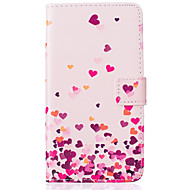 lyserød kærlighed mønster pu læder materiale telefon Cover til Samsung Galaxy J5 / j510 / G360 / G530 / i9060