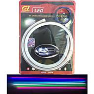 Χαμηλού Κόστους LED Φωτολωρίδες-2pcs εκπέμπουν σωλήνα οδήγησε μαλακό λαμπτήρα auto φρυδιών αποκορύφωμα οδήγησε άρθρο λυχνία 60 εκατοστά