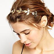 billige Smykker & Ure-Dame Pige Basale Natur Elegant minimalistisk stil Hårbånd - Guldbelagt Legering Blomst