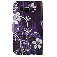 Недорогие Galaxy Trend Duos-Для Кейс для  Samsung Galaxy Кошелек / Бумажник для карт / со стендом / Флип Кейс для Чехол Кейс для Цветы Искусственная кожа Samsung