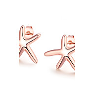 Women's Stud Earrings With Gift Box Crystal Lovely Fashion Alloy Starfish Jewelry Wedding Daily