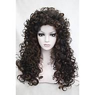 Недорогие Парики из искусственных волос-жен. Парики из искусственных волос Без шапочки-основы Кудрявые Коричневый Парик для Хэллоуина Карнавальный парик Карнавальные парики
