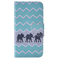 Для Кейс для  Samsung Galaxy Бумажник для карт / Кошелек / со стендом / Флип Кейс для Чехол Кейс для Слон Искусственная кожа SamsungJ5