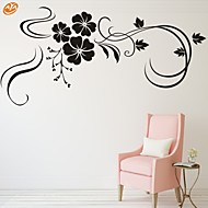 abordables Adhesivos Decorativos-Romance De moda Florales Pegatinas de pared Calcomanías de Aviones para Pared Calcomanías Decorativas de Pared, Vinilo Decoración hogareña