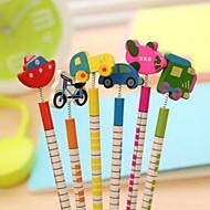 preiswerte Schreibwaren-Verkehr Werkzeuge Zierde Holz Bleistift-Set (6 Stück)