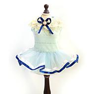 お買い得  -ネコ 犬 ドレス 犬用ウェア 蝶結び イエロー ブルー コットン コスチューム ペット用 女性用 ファッション