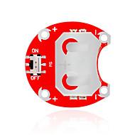 お買い得  Arduino 用アクセサリー-バッテリーなしの2004(赤)ボタン電池モジュール - キーズlilypadウェアラブルCCR