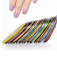 10 Nail Art Sticker Franse nagels gids 3D Nagelstickers Abstract make-up Cosmetische Nail Art Design