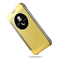 Недорогие Чехлы и кейсы для Galaxy S7 Edge-Для Samsung Galaxy S7 Edge с окошком / С функцией автовывода из режима сна / Покрытие / Зеркальная поверхность / Флип Кейс для ЧехолКейс