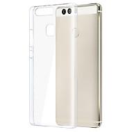 tanie Etui na telefony-Kılıf Na Huawei P9 Huawei Honor 4X Huawei P9 Lite Huawei P8 Inne Huawei Huawei P8 Lite Etui Huawei Przezroczyste Czarne etui Solid Color
