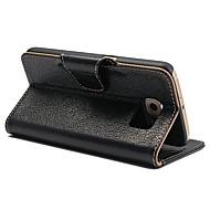 Для Samsung Galaxy S7 Edge Бумажник для карт / Кошелек / со стендом / Флип Кейс для Чехол Кейс для Один цвет Натуральная кожа SamsungS7
