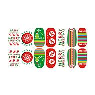 abordables Adhesivos para Uñas-preciosa de fluorescencia de la joyería del clavo de Navidad