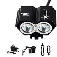 お買い得  フラッシュライト/ランタン/ライト-ヘッドランプ / 自転車用ライト LED 3000 lm 4.0 照明モード バッテリー&チャージャー付き 防水 / 充電式 / 緊急 サイクリング